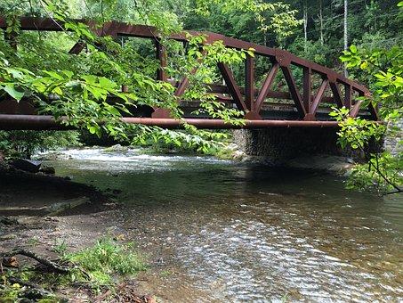 Bridge, Iron, River, Creek, Great Smokey Mountains