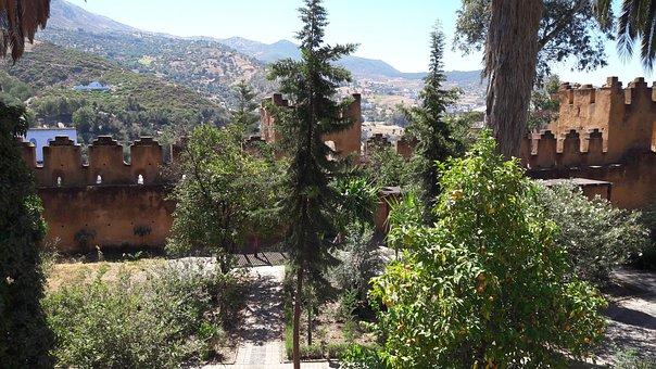 Kasbah, Landscape, Mountain, Arabesque, Archer Tower