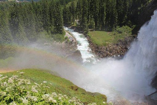 Krimml Falls, Waterfall, Rapids