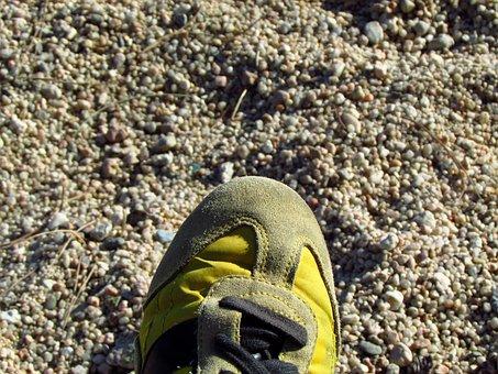 Foot, Shoe, Lace, Sand, Beach Sand, Beach, Bambas