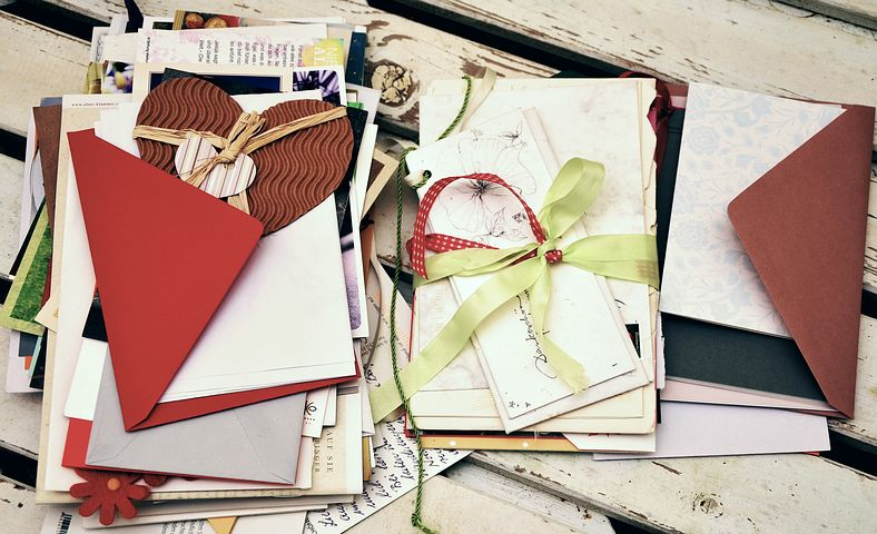 Letters, Penpal, Cards, Greetings, Leave, Stack