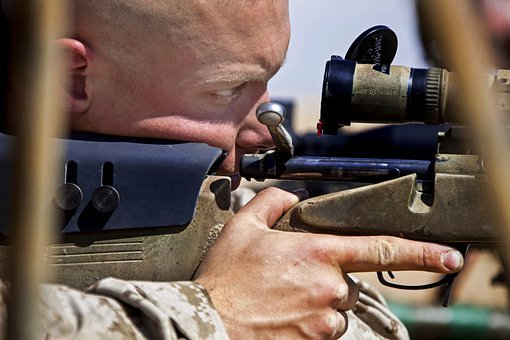 Man, Weapon, Rifle, Sniper, Concentration, Macro