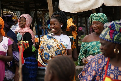 Gambia, Market, Woman, Creole, Africa