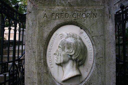 Chopin, Tomb, Pere Lachaise, Cemetery, Paris