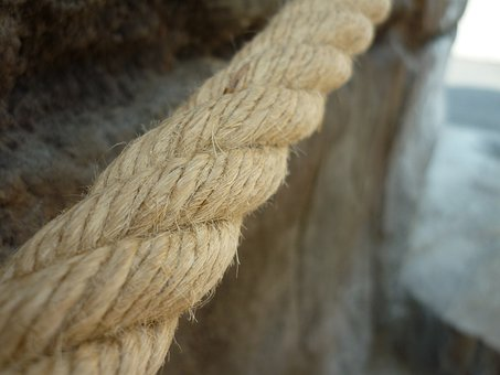 Rope, Outside, Rope Bridge, Hemp Rope, Dirt, Risk