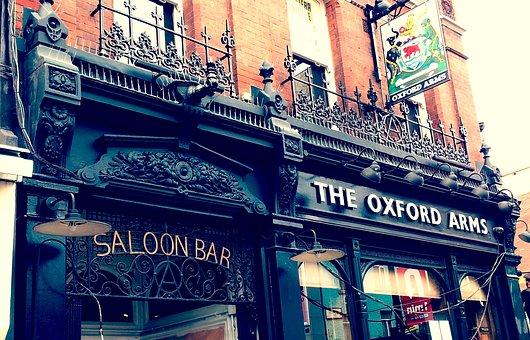London, Saloon, City, England, Vintage, Road, Building