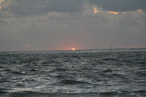 Rough Seas, North Sea, Borkum, Germany