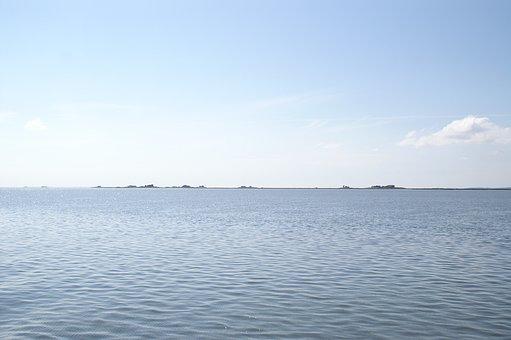North Sea, Halligen, Nordfriesland, Sea