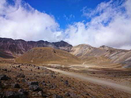 Nevado De Toluca, Blue, Sky, Mountain, Clouds, Earth