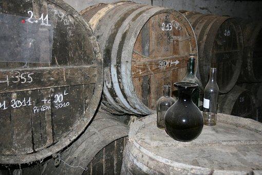 Cognac, Barrel, Alcohol, Vintage, Strong, Old