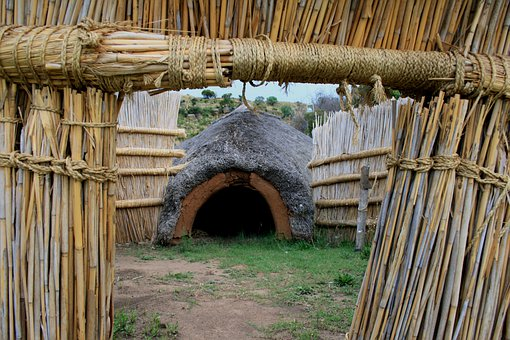 Bosotho Dwelling, Thatched Hut, Coned Entrance