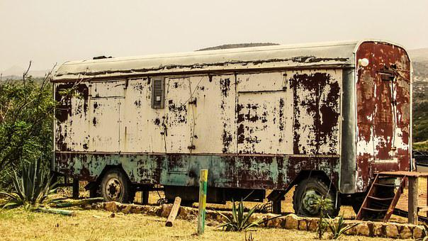 Cyprus, Akamas, National Park, Trailer, Abandoned