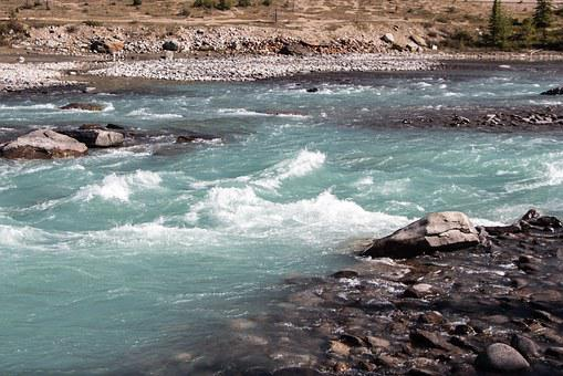 Athabasca River, Water, Rapids, River, National, Park