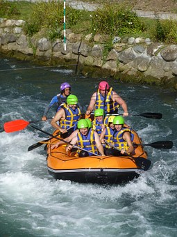 Rafting, White Water, Dinghy, Sport, Boat, Flow, Rapids