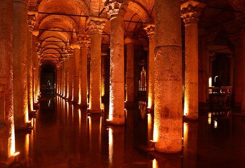 Cistern, Istanbul, Basilica Cistern, Architecture