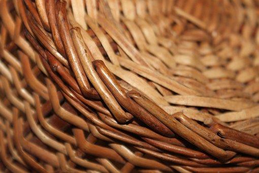 Cane, Bamboo, Basket, Woven, Pattern, Texture, Handmade