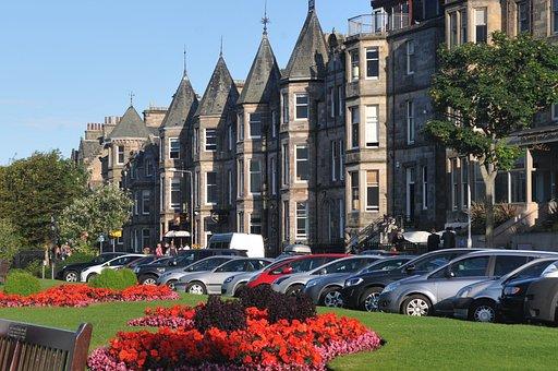 St Andrews, Buildings, Houses, Parking Lot, Summer