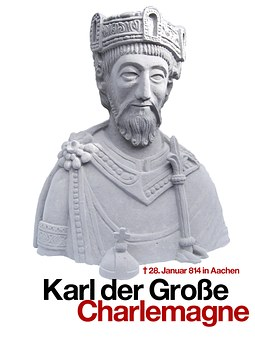 Charles The Great, Statue, Fig, King, Crown, Aachen