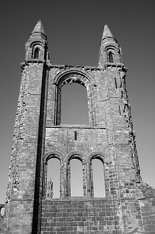 Cathedral, St Andrews, Scotland, Ruin, Church