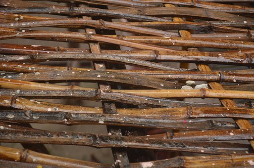 Bamboo, Lattice, Material, Construction, Pattern, Weave