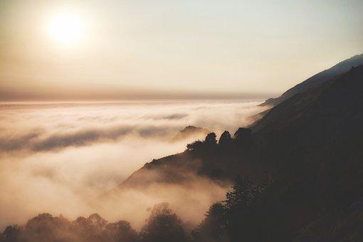 Dawn, Dusk, Fog, Landscape, Hills, Nature, Outdoors