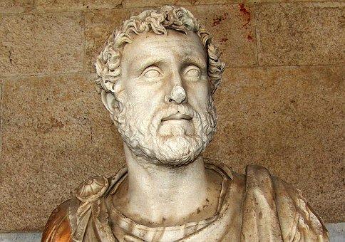 Statue, Antique, Romans, Greek, Man, Head, Portrait