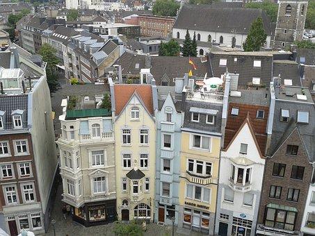 Aachen, Houses, House, Architecture, Window, Building