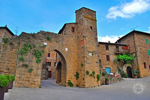 Monticchiello Of Pienza, Siena, Tuscany, Italy, Wall