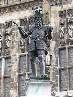 Monument, Kaiser Karl, Aachen, Historic Center