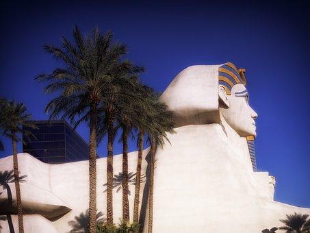 Luxor Hotel, Las Vegas, Nevada, Sphynx, Landmark