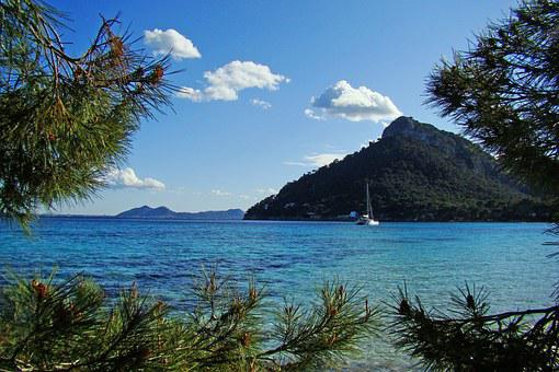 Sailboat, Beach, The Stones, Sea, Majorca, Spain, Rest