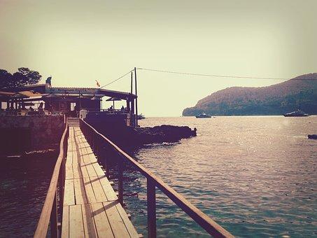 Beach, Majorca, Grunge, Retro, Sea, Summer, Mallorca
