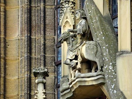 Alsace, Colmar, Saint-martin, Church, Martin, Sculpture