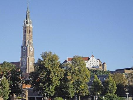 Landshut, Martin Church, Trausnitz Castle, Castle