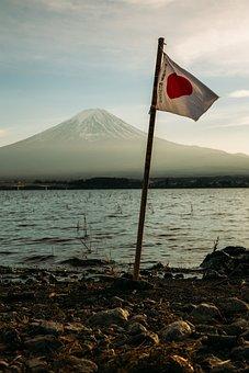 Daylight, Flag, Lake, Landscape, Mountain, Outdoors