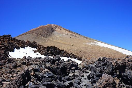 Teide, Volcano, Mountain, Summit, Lava, Lava Flow