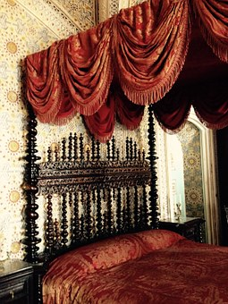Bed, Castle, Portugal, Palace, Architecture