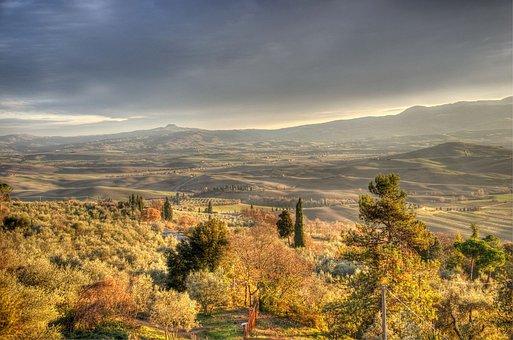 Pienza, Tuscany, Hdr, Val, Country, Radicofani, Tones