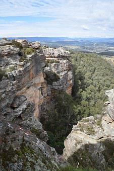 Lithgow, Hassan's Walls Lookout, Rock, Sandstone