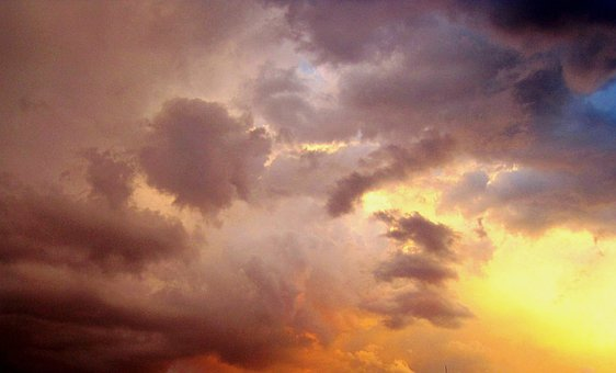 Sunset, Sundow, Clouds, Solid, Smooth, Whispy, Light