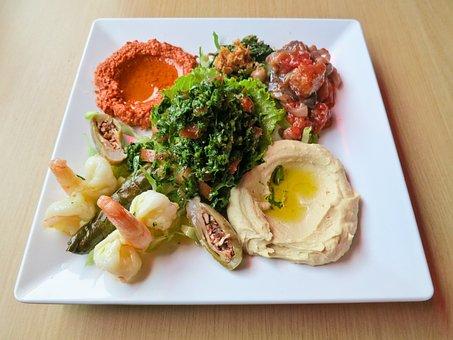 Starter, Eat, Chunks, Hearty, Hummus, Tahina, Mezze