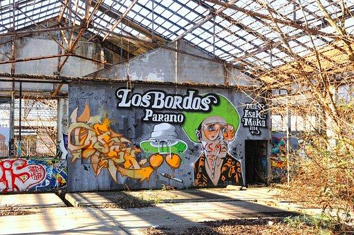 Graffiti, Street Art, Painting, Hangar, Factory, Tag
