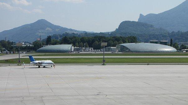 Airport, Salzburg, Runway, Aircraft, Flyer, Transport