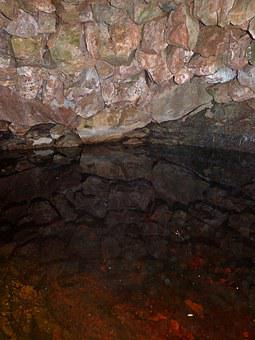 Cistern, Rocks, Well, Reflection