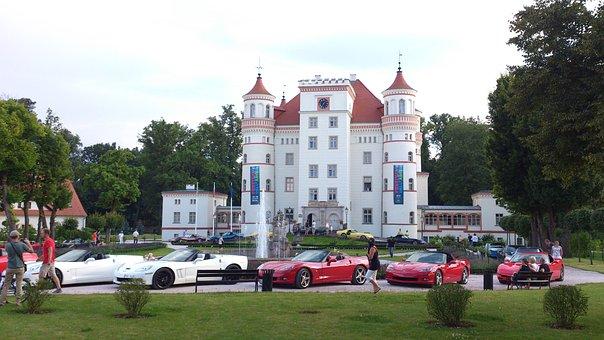 Castle, Atmosphere, Car Meeting, Corvette Tour