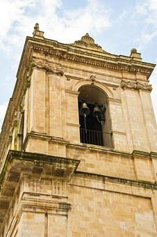 Church, Tower, Baroque, Sicily, Italy, Architecture