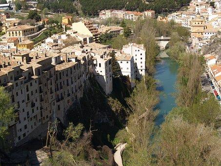 Basin, Spain, River, City, Views, Júcar, Panoramic