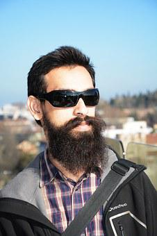 Male, Beard, Young, Portrait, Sunglasses, Long Beard
