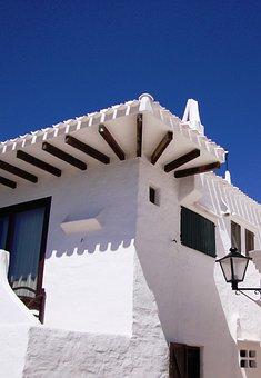 Minorca, House, Tipical, Binibeca, White, Spain