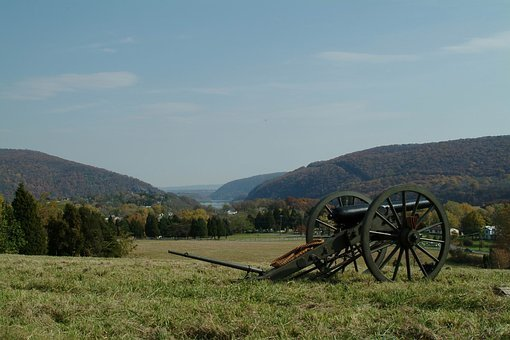 Harpers Ferry, West Virginia, Cannon, Historical, Sky